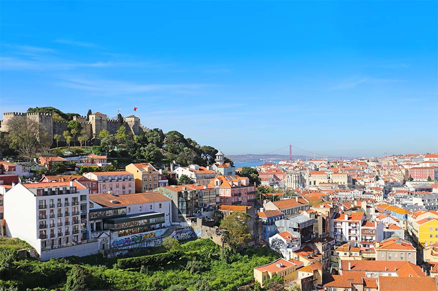 Miradouro da Graça viewpoint in Lisbon