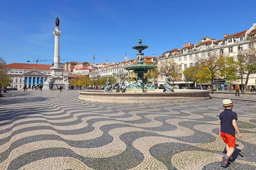 Rossio Square or Pedro IV Square in Lisbon