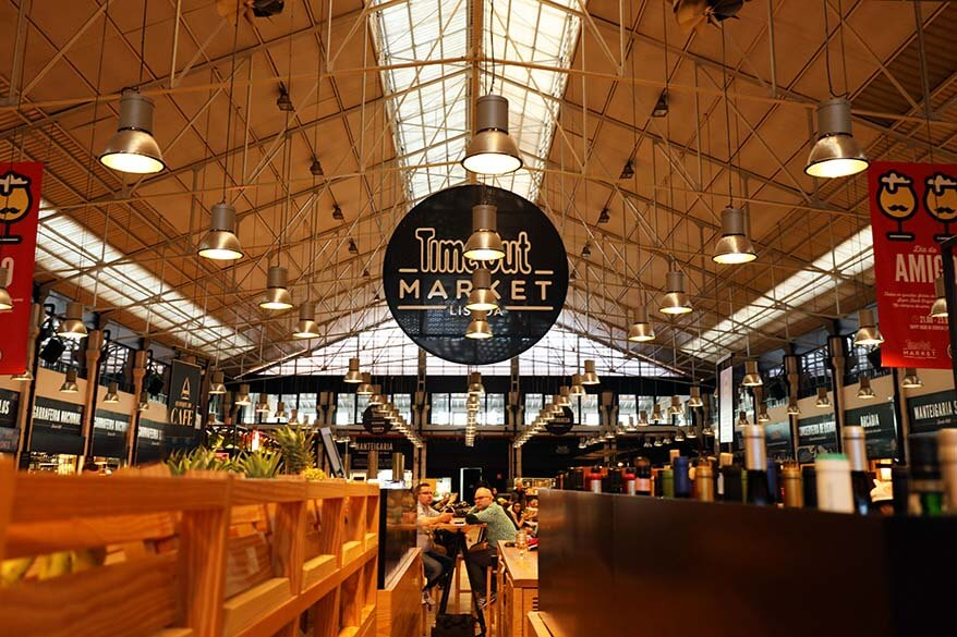 Time Out Market in Lisbon is a great place to try a great variety of Portuguese dishes