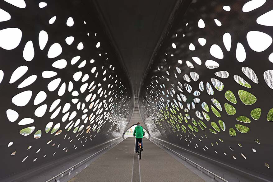 Antwerp Park Bridge (Parkbrug) is a must if exploring the city by bike