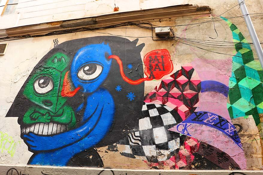 Bucharest street art is easiest to find by taking a tour with a local
