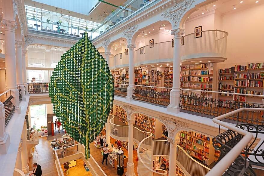 Carturesti Carusel bookstore in Bucharest Romania