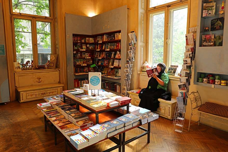 Carturesti Verona book shop in Bucharest