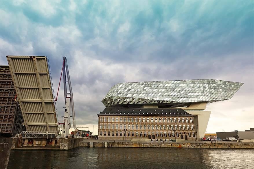 Drawbridge at the Port House of Antwerp