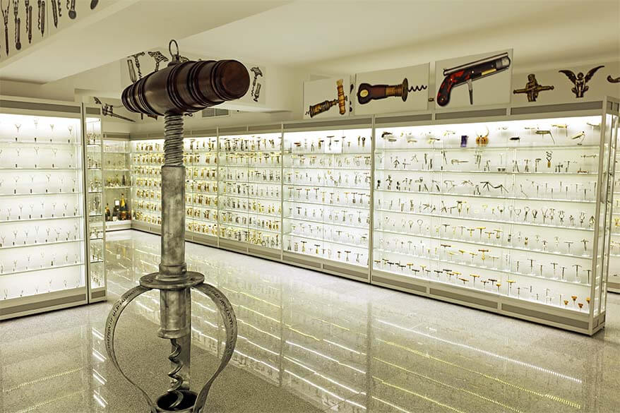 Largest corkscrew collection in the world in Bucharest Romania
