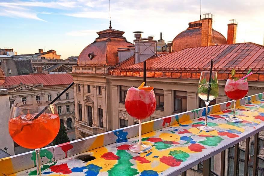 Pura Vida Sky Bar is a hidden gem in the Old Town of Bucharest Romania