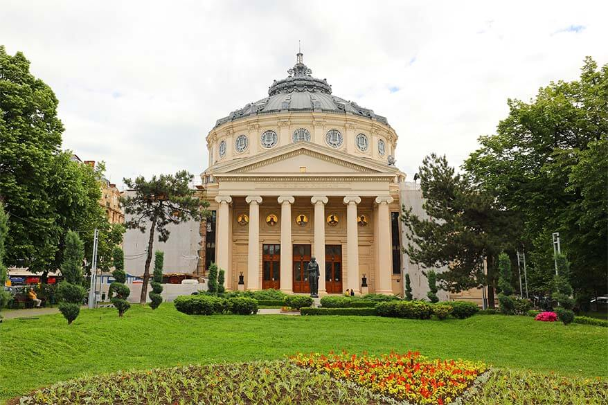 Romanian Athenaeum - one of the best places to see in Bucharest