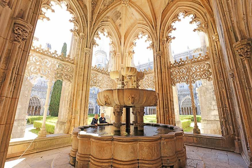 Visiting Batalha Monastery in Portugal with kids