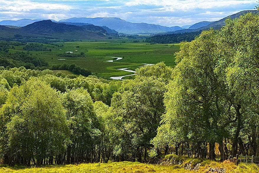 Scottish landscape on the Speyside Whiskey Tour in Scotland