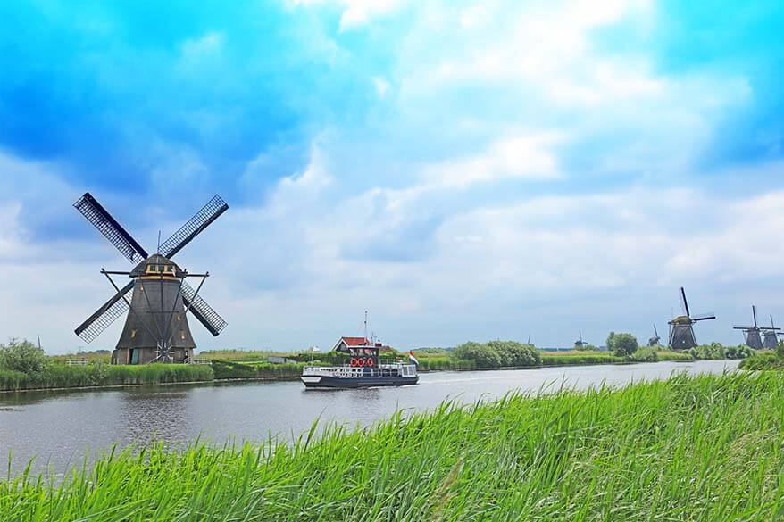 Kinderdijk UNESCO World Heritage Site is one of the musts you shouldn't miss when in the Netherlans