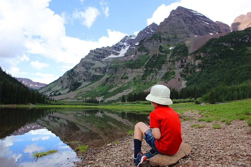 Crater Lake Trail and Maroon Bells with kids