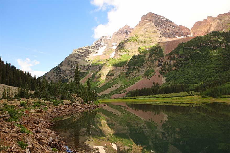 Crater Lake Trail near Maroon Bells, Aspen Colorado