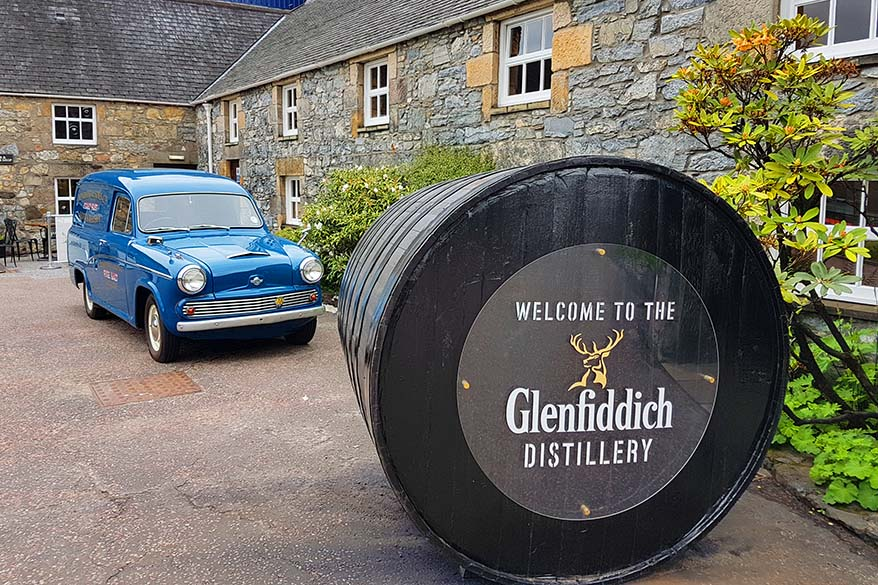Glenfiddich distillery is not to be missed on any whisky tour in Scotland