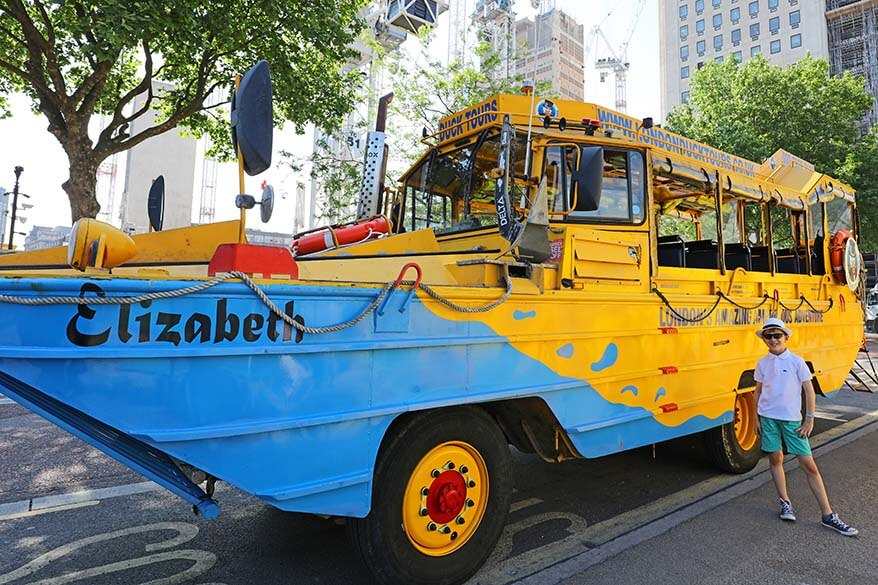 London Duck tours offer one of the most fun and unique ways to experience London for families with kids