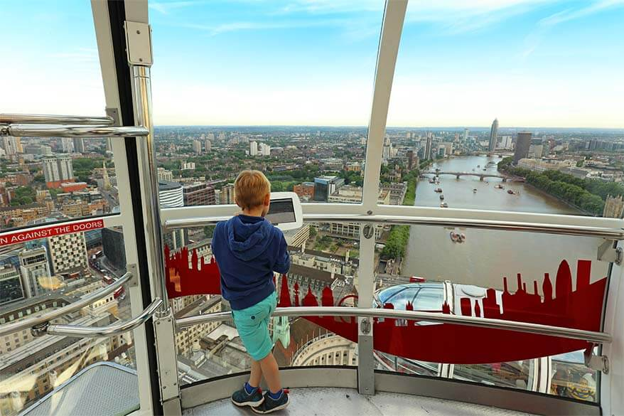 London Eye is an absolute must in London, with or without kids