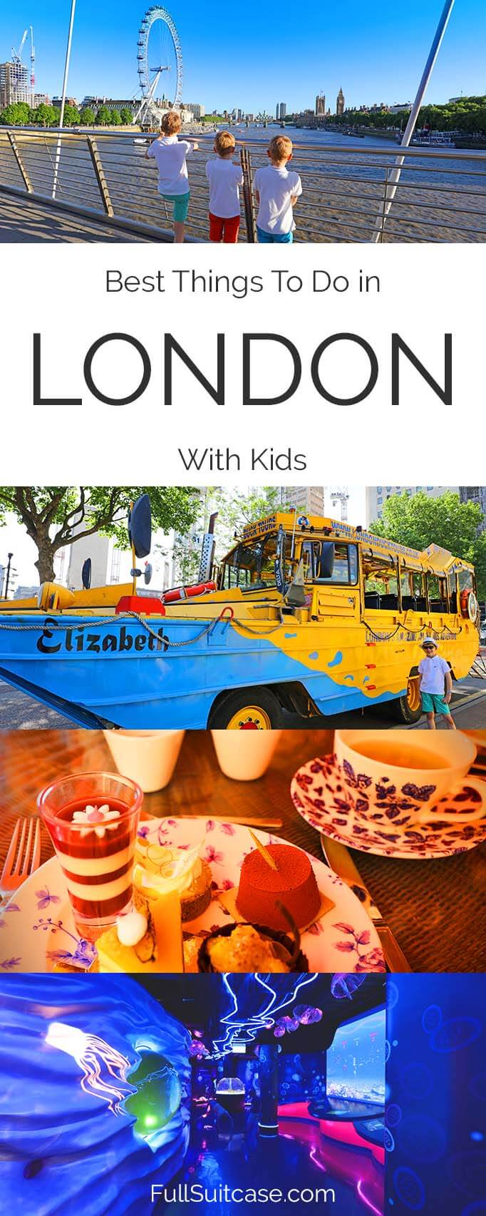 London with kids - what to do and see if visiting London with the family for the first time