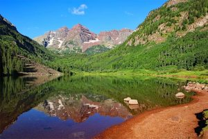 Maroon Bells reflections in the morning