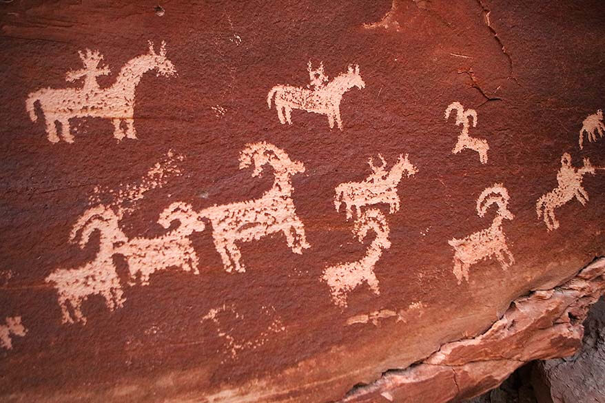 Rock Art Panel on Delicate Arch Trail