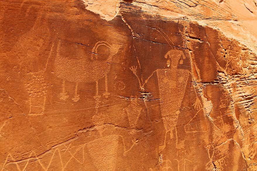 Rock art at the Dinosaur National Monument in Utah