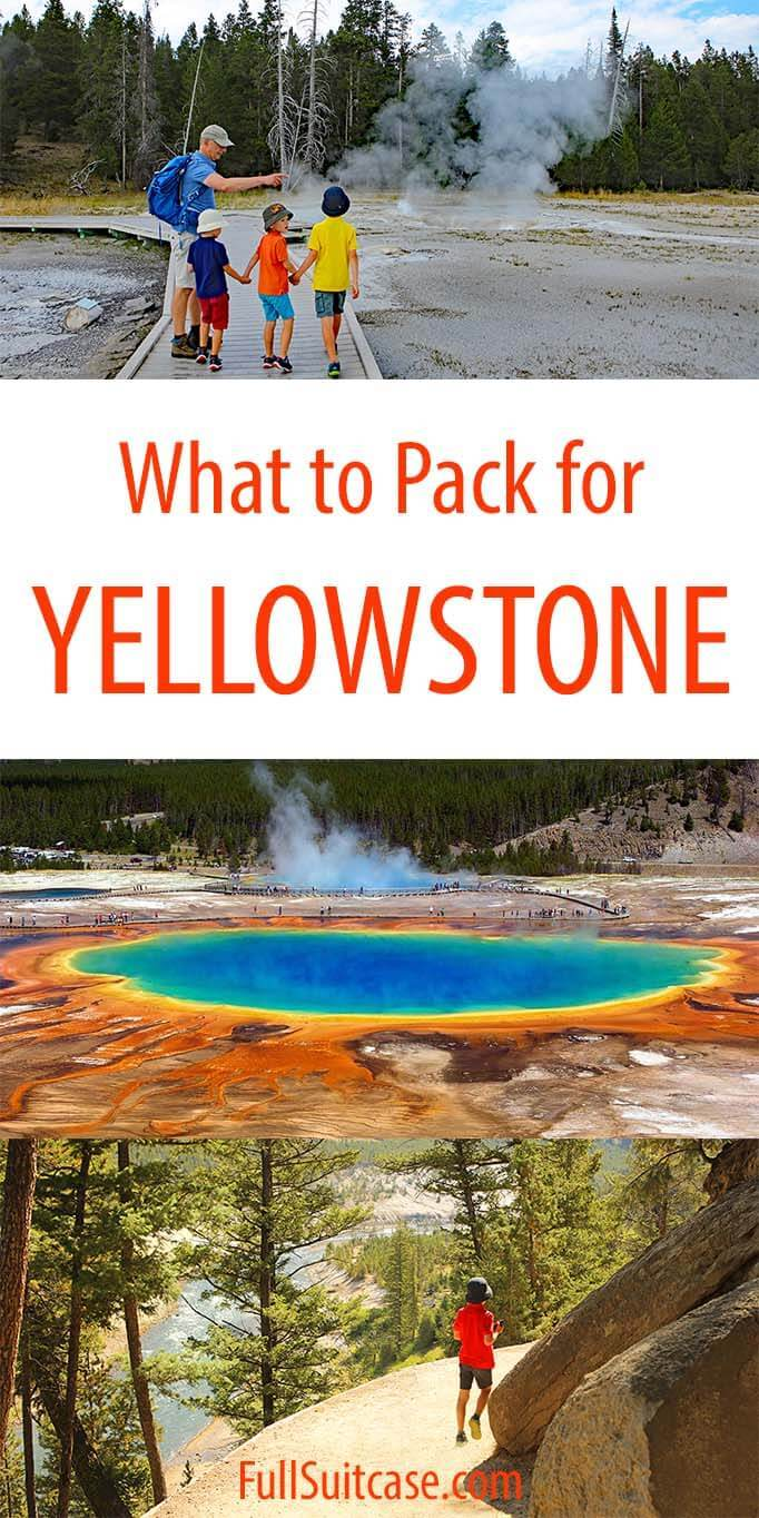 What to wear to Yellowstone - clothing packing list and tips