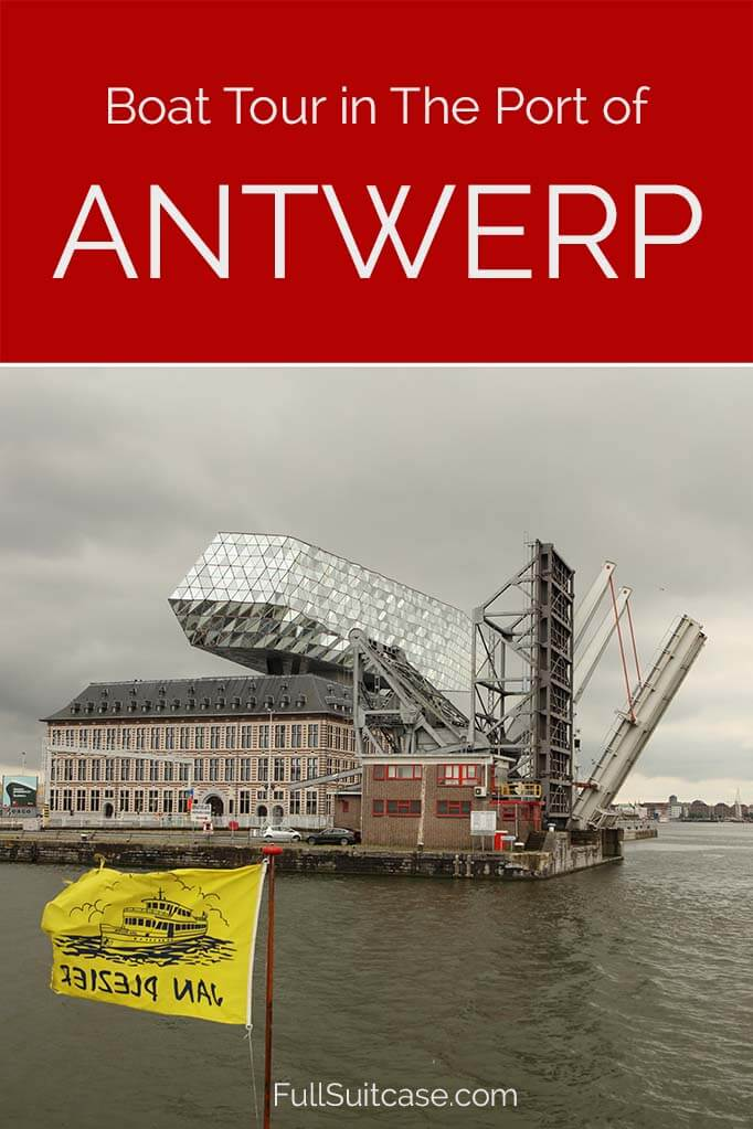 Discover a different side of Antwerp, Belgium, by taking a boat tour of the harbour