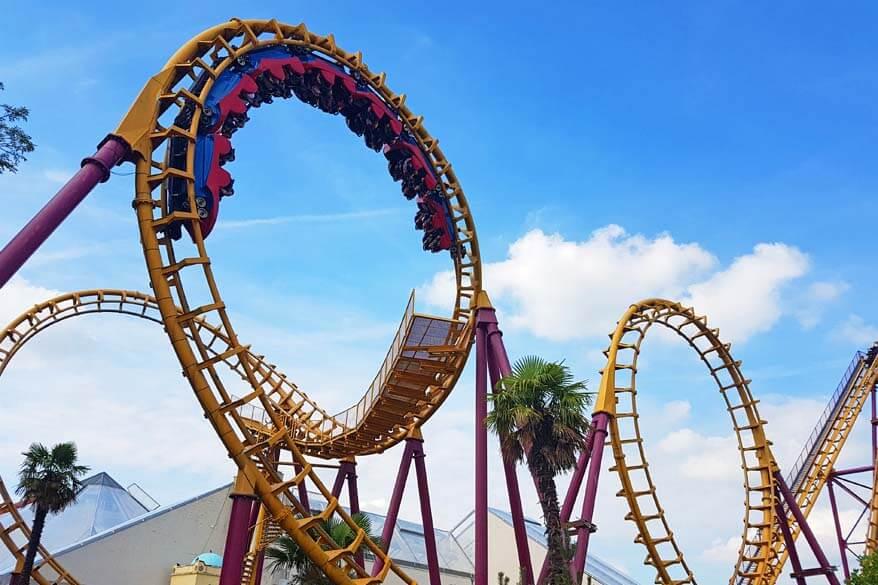 Cobra is one of the wildest roller coasters in Walibi Belgium