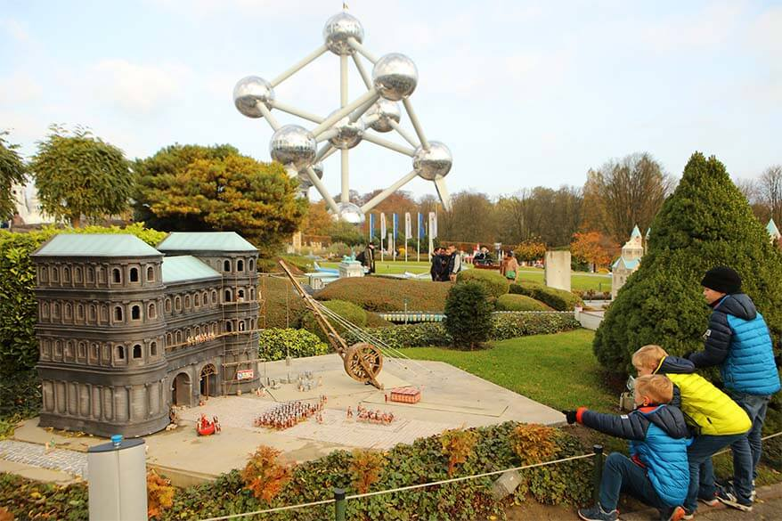 Mini-Europe miniature park in Brussels