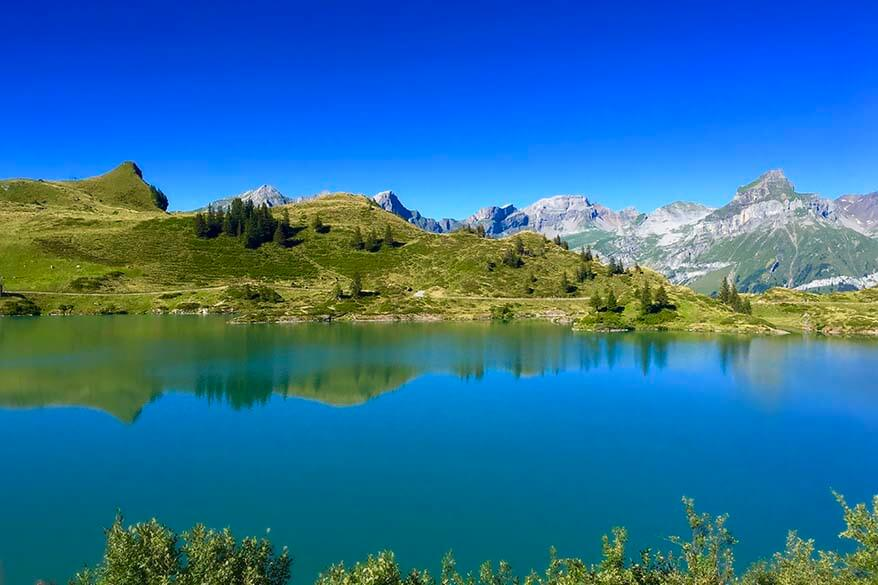 Trubsee lake is one if the loveliest mountain lakes in Switzerland