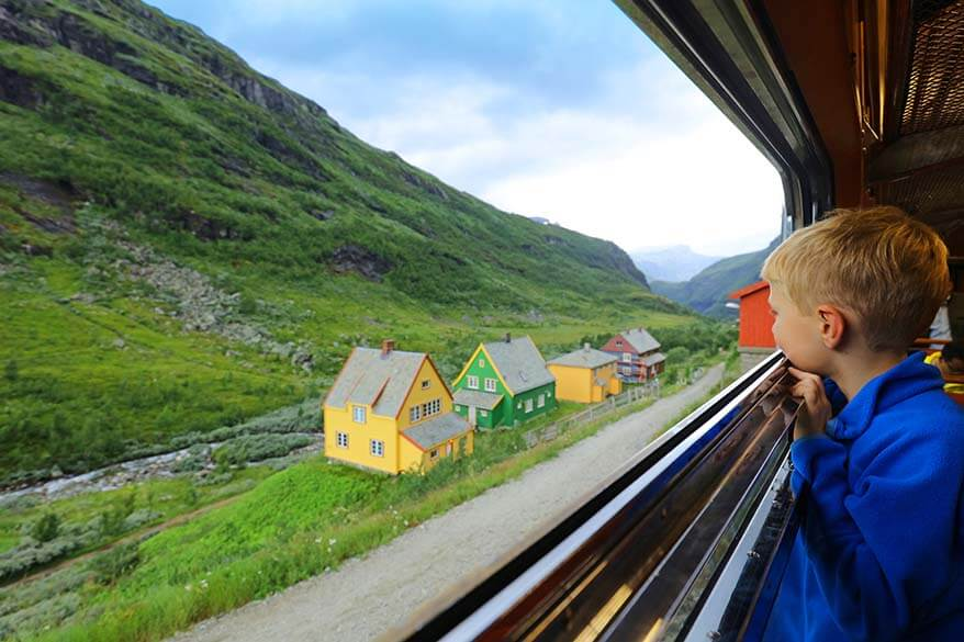 Flamsbana scenic railway trip from Flam to Myrdal in Norway is one of the best things to do in Flam