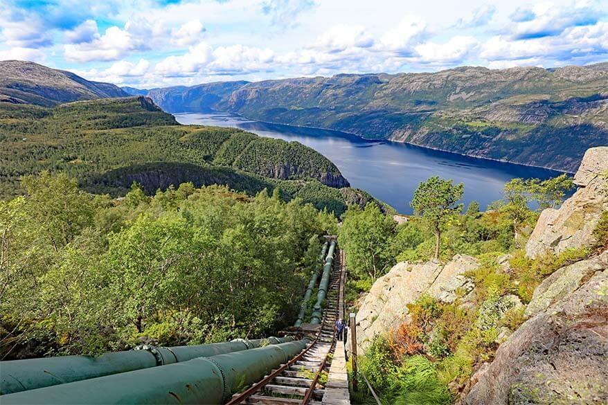 Florli 4444 epic hike in Stavanger region in Norway