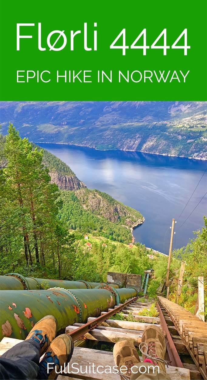 Hiking Florli 4444 - one of Norway's most epic hikes. #Norway #hike