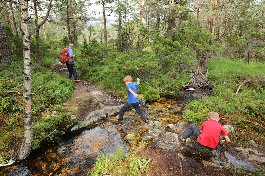 Hiking at Florli in Norway