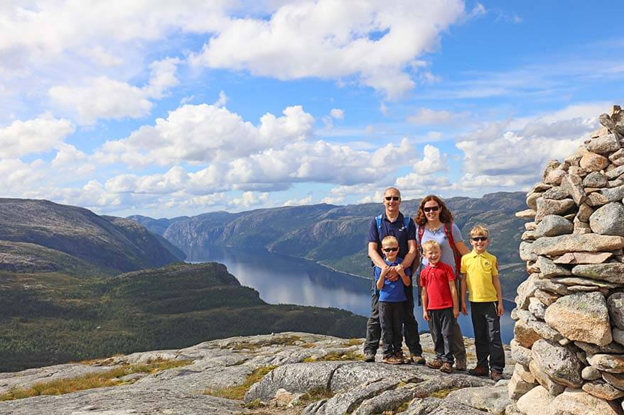 On top of Florli 4444 staircase - one of Norway's most epic hikes