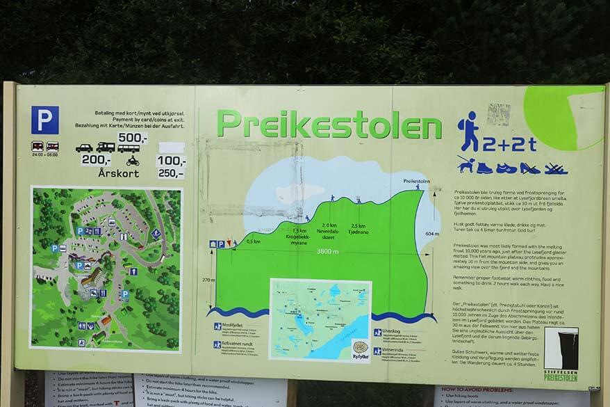 Pulpit Rock hike practical information