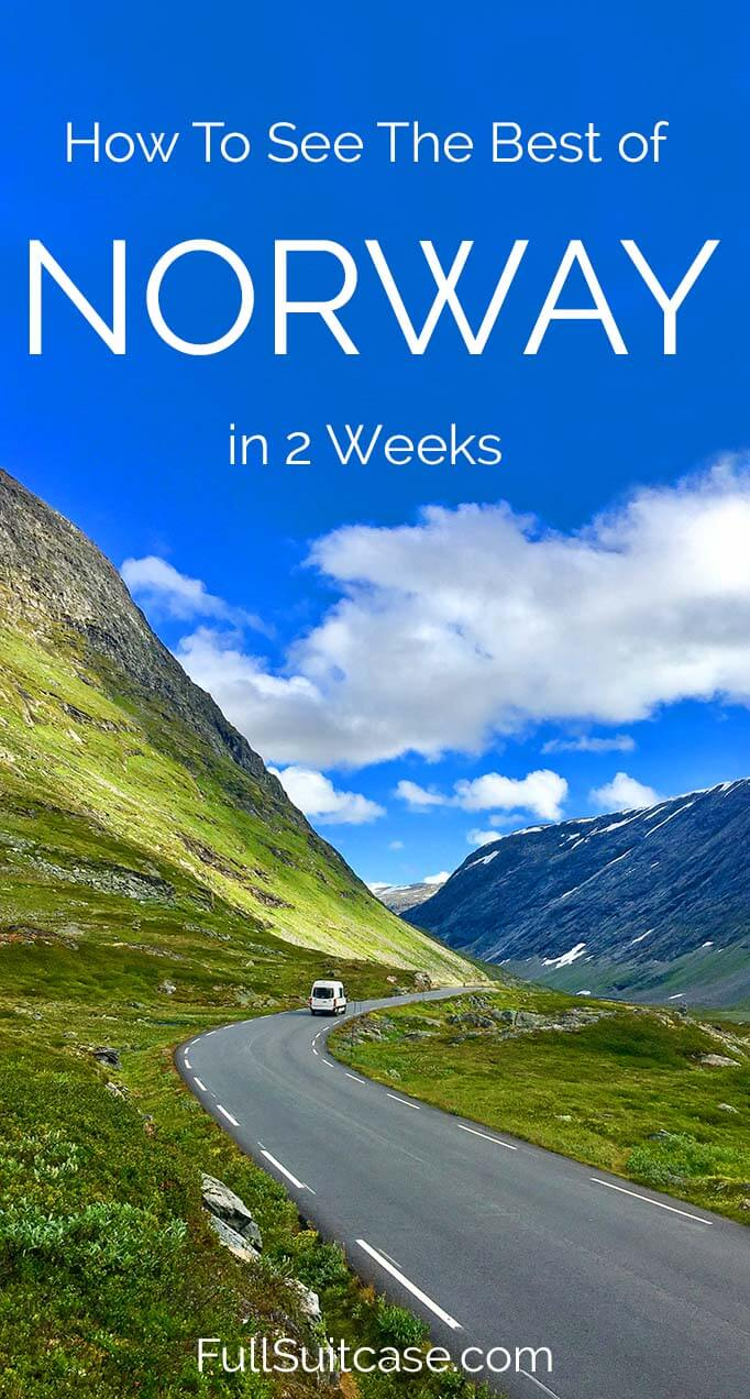 See the best of Norway with this 2-week road trip itineray along the most beautiful fjords and the Atlantic coast