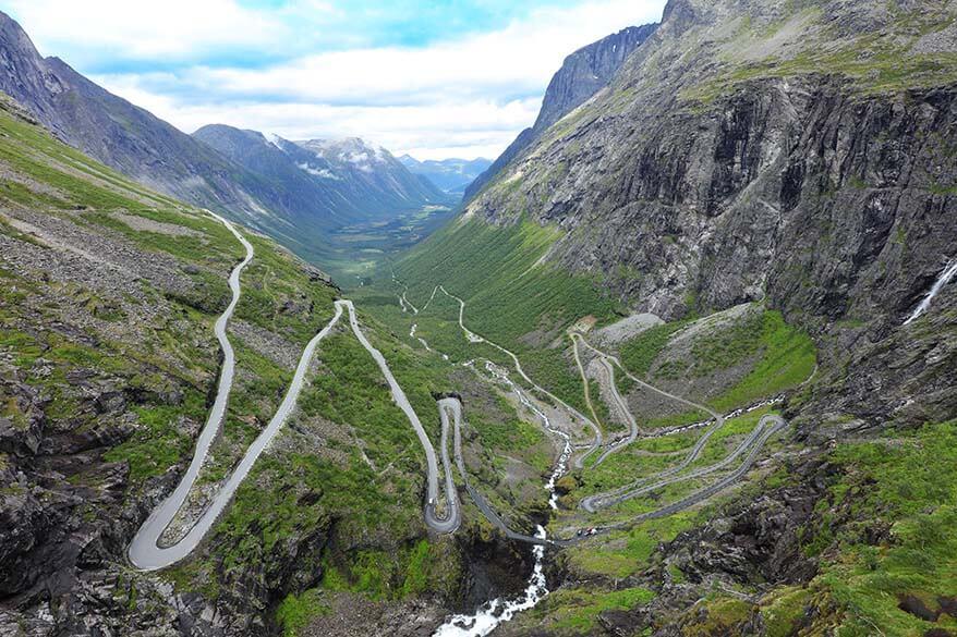 Trollstigen scenic road in Norway