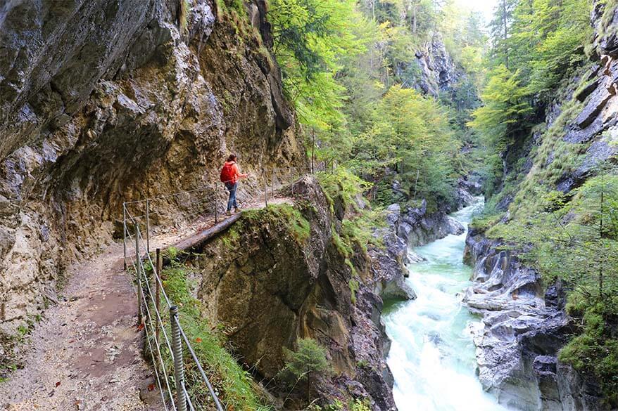Family friendly day trip it Tyrol Austria - hiking Kaiserklamm in Brandenberg area