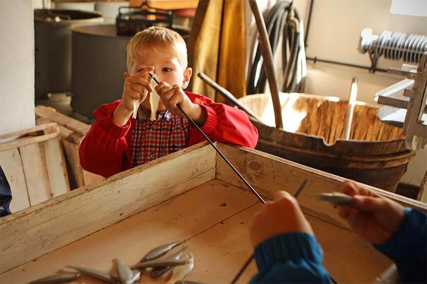 Norwegian Canning Museum offers lots of hands-on activities for kids