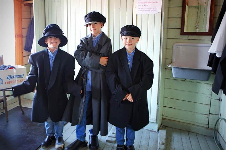 Role play at the Norwegian Canning Museum in Stavanger