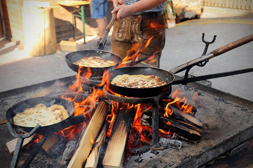 Traditional Austrian pancakes - melchermuas