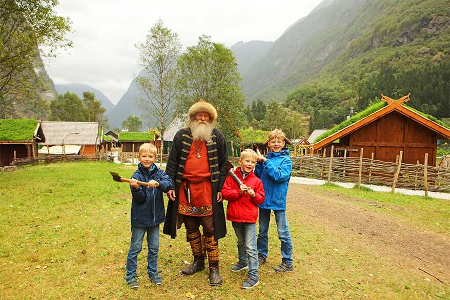 Visiting Njardarheimr Vikingvalley with kids