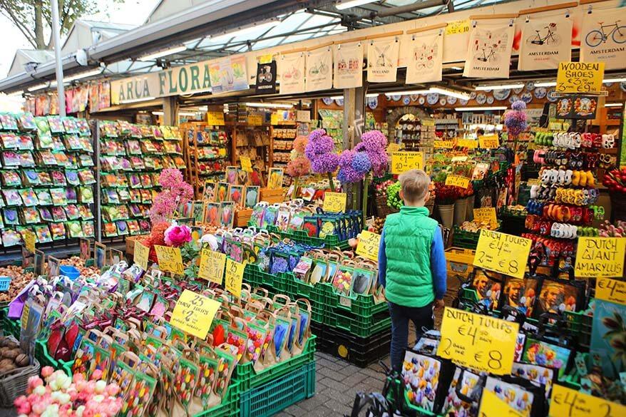 Floating flower market in Amsterdam