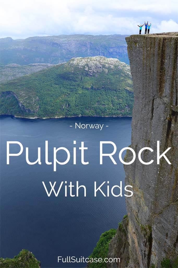 Hiking to the Pulpit Rock with kids - Preikestolen hike at the Lysefjord in Norway