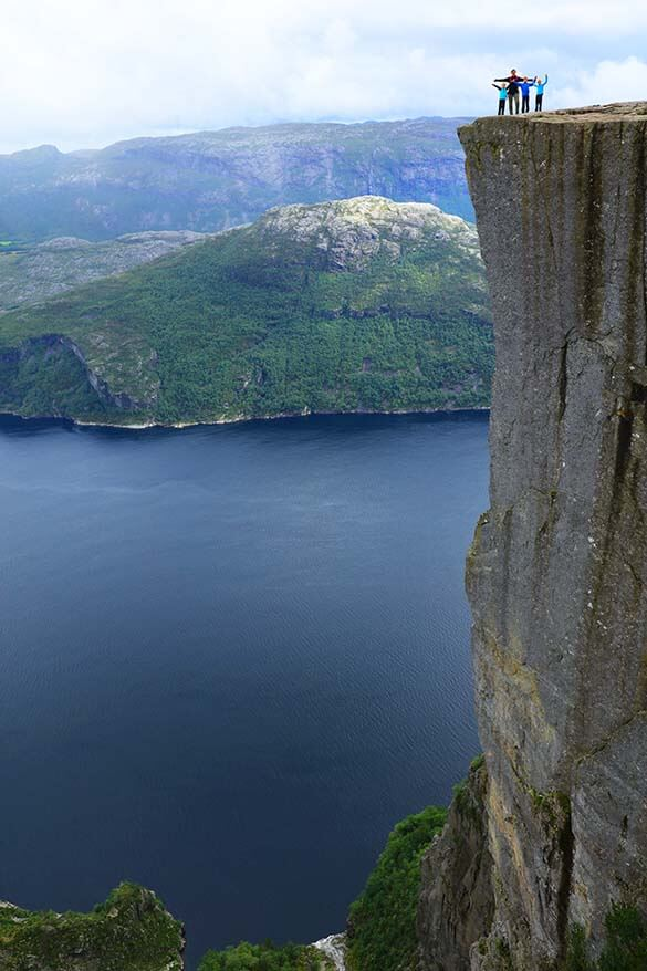 The Pulpit Rock hike in Norway with kids