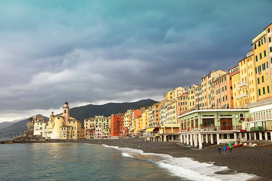Camogli is one of the most beautiful towns along Ligurian Coast in Italy