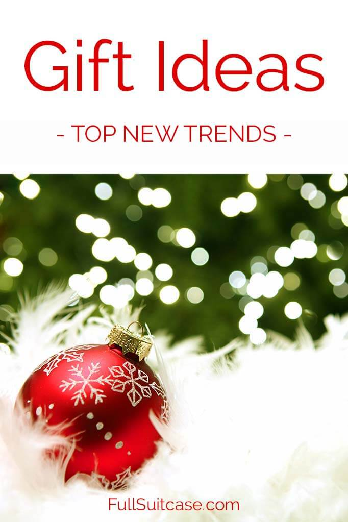 Holiday and birthday gift ideas featuring new trends in travel