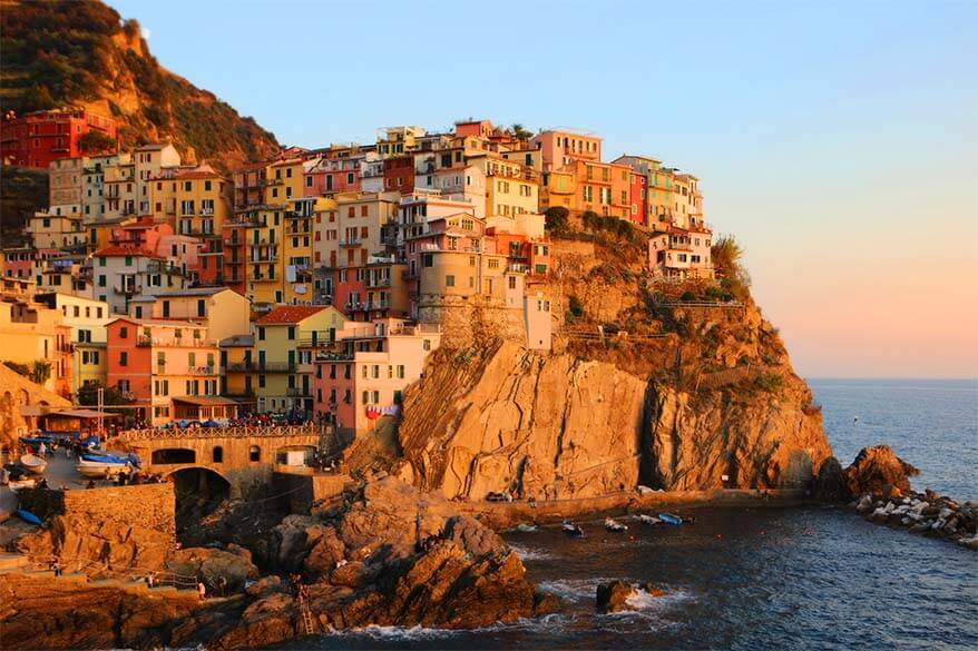 Manarola in Cinque Terre at sunset