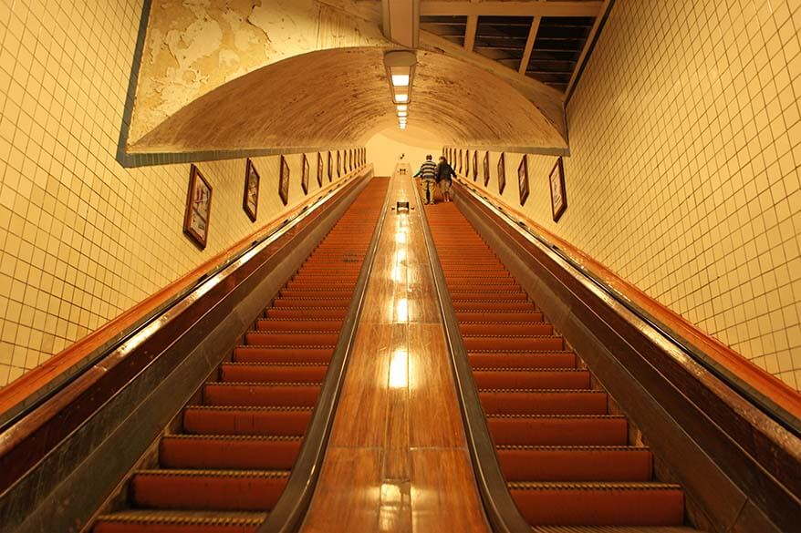 St Anna pedestrian tunnel is one of the hidden gems of Antwerp