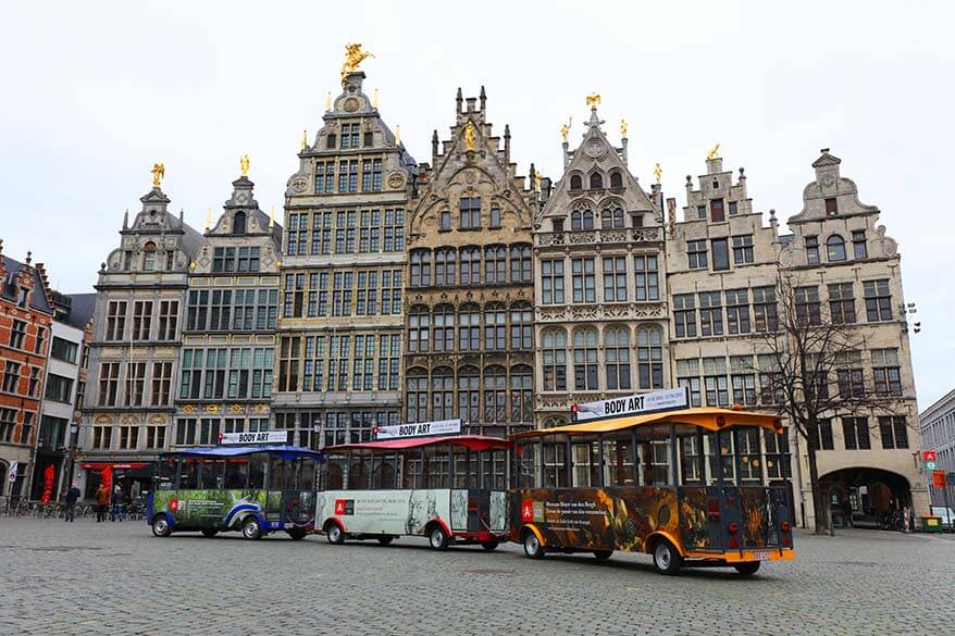 Antwerp sightseeing train is a good way to see the highlights of Antwerp with kids