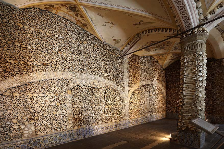 Evora Chapel of Bones in Portugal